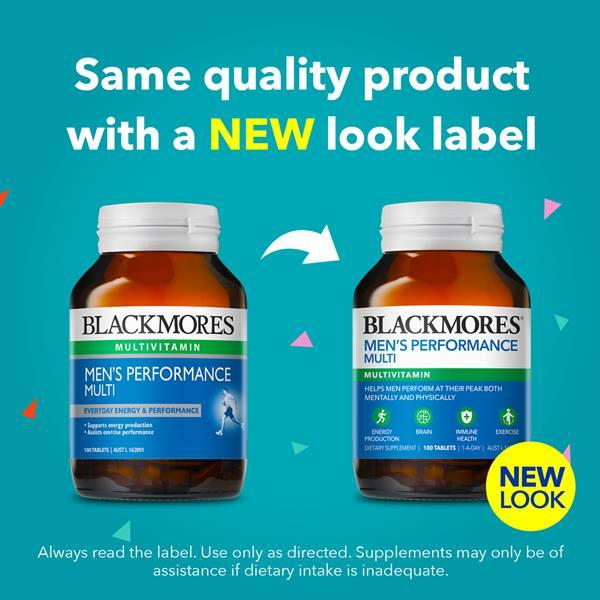 Vitamin tổng hợp cho nam Blackmores Mens Performance Multi 60 viên