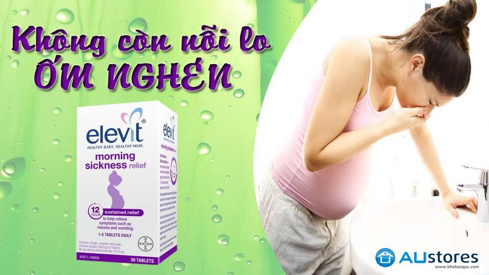 Viên uống làm giảm các triệu chứng ốm nghén Elevit Morning Sickness Relief 30 viên