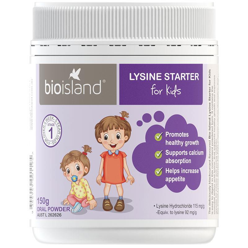 Bột tăng chiều cao bio island Lysine cho bé dưới 6 tuổi