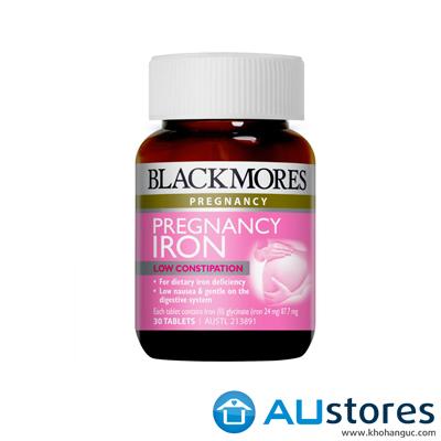 Viên uống bổ sung sắt cho bà bầu Blackmores Pregnancy Iron 30 viên