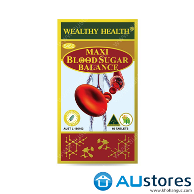 Viên uống hỗ trợ điều trị tiểu đường Wealthy Health Maxi Blood Sugar Balance 60 viên