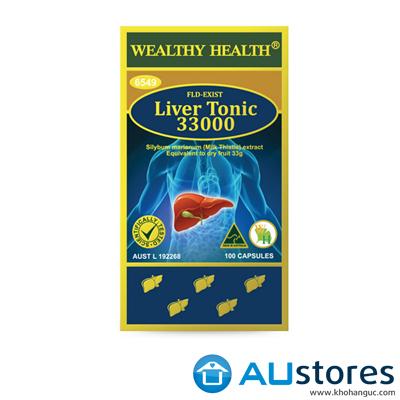 Viên uống bổ gan và thải độc gan Wealthy Health Liver Tonic 33000 100 viên