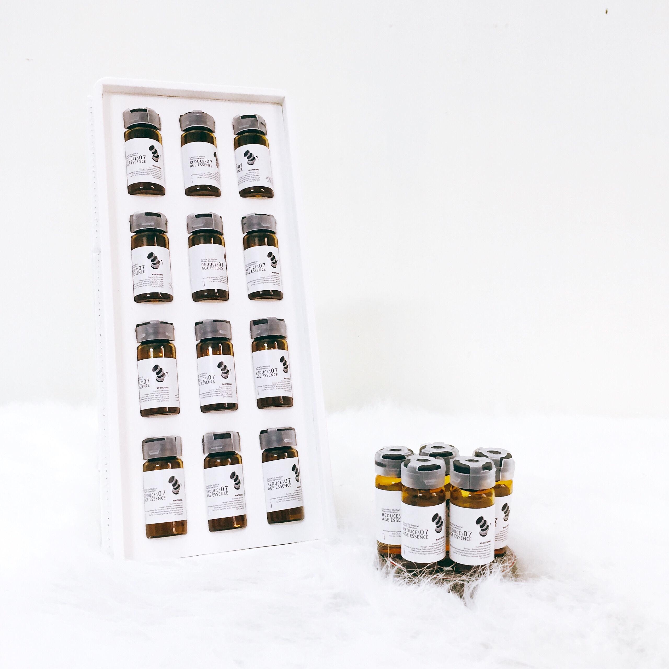 Tinh chất trắng da trị nám cân bằng sắc tố da Reduce 07 age essence whitening (12 ống)