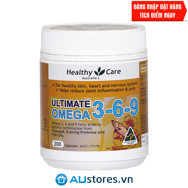 Viên uống Omega 3-6-9 Healthy Care Ultimate
