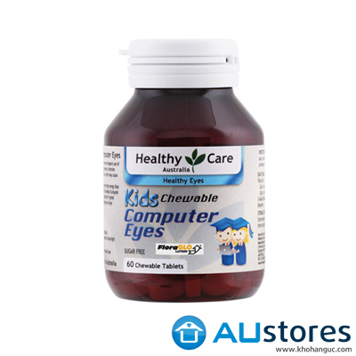 Viên bổ mắt cho bé Healthy Care Kids Computer Eyes 60 Chewable Tablets