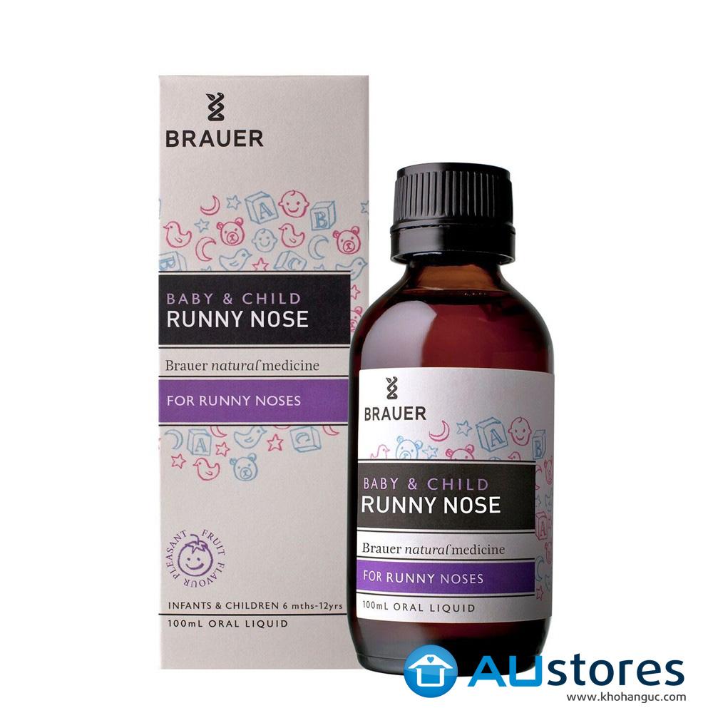 Siro trị sổ mũi Brauer Baby & Child Runny Nose Relief cho trẻ em từ 6 tháng - 12 tuổi