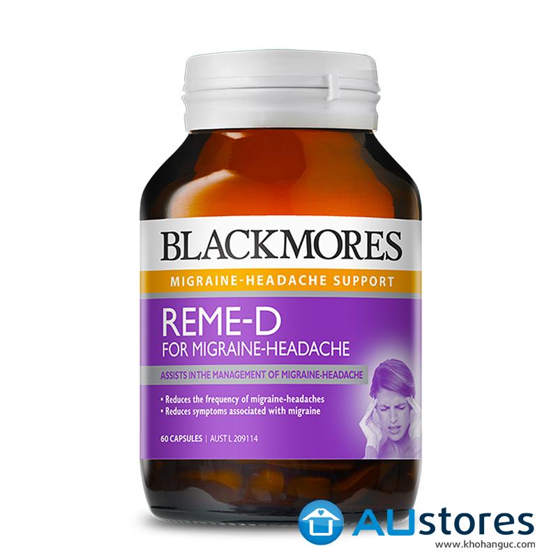 Viên Uống Giảm Đau Nửa Đầu Blackmores Reme-d Hộp 60 Viên Của Úc