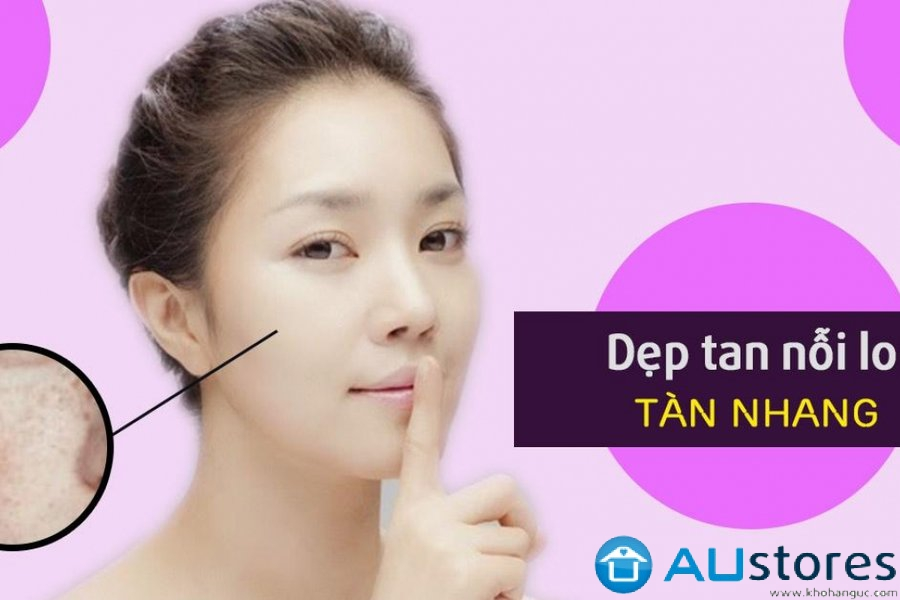 Làm thế nào để thổi bay tàn nhang trên mặt?