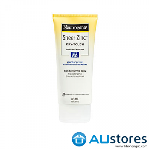 Kem chống nắng Neutrogena Sheer Zinc Dry-Touch Sunscreen lotion SPF50 88ml