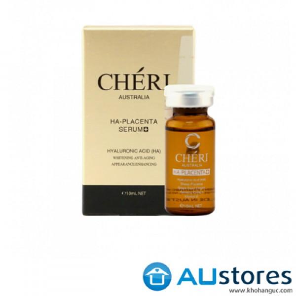Serum trắng da trị nám,chống lão hóa Cheri australia HA-Placenta serum 10ml