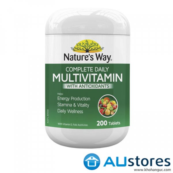 VITAMIN TỔNG HỢP NATURE'S WAY COMPLETE DAILY MULTIVITAMIN 200 viên