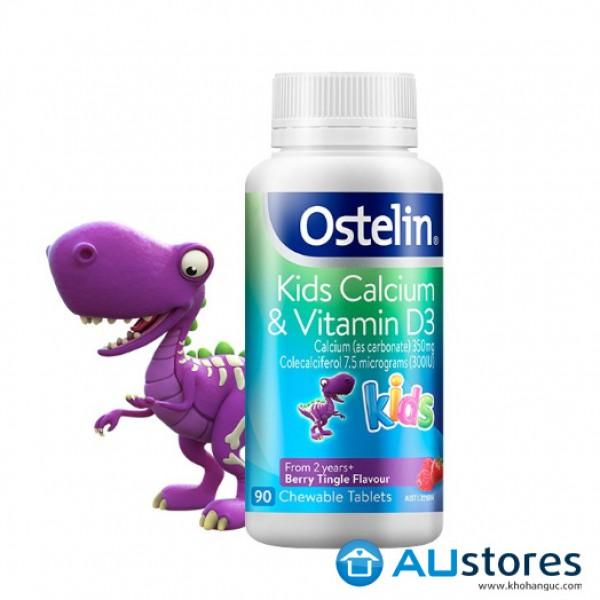 Canxi Ostelin Kids 90 Viên Bổ Sung Calcium Vitamin D Cho Bé Từ 2 Tuổi