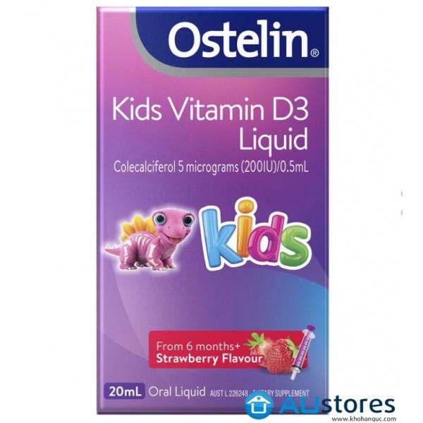Vitamin D dạng nước cho trẻ từ 6 tháng Ostelin Infant Vitamin D3 Liquid
