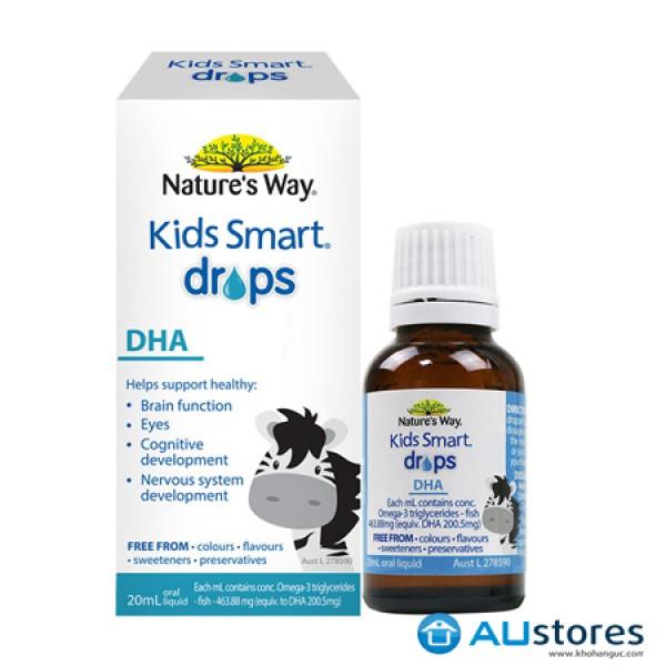 Bổ sung DHA cho bé dạng nhỏ giọt - Nature'S Way Kids Smart Dha Drops 20Ml dành cho bé từ 7 tháng tuổi