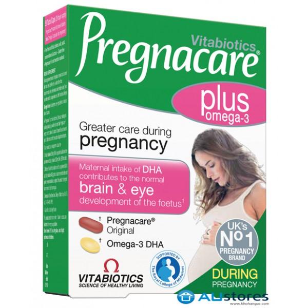 Vitabiotics Pregnacare Plus Omega-3 hộp 56 viên- Vitamin bổ sung omega 3 dành cho bà bầu