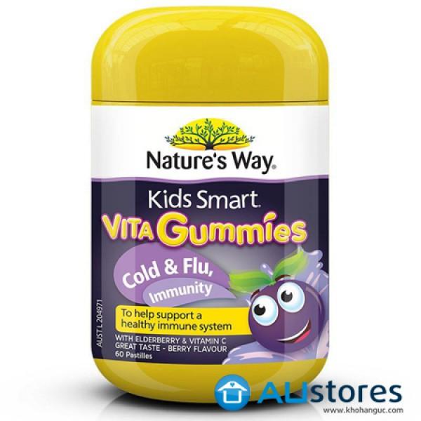 Kẹo dẻo Vita Gummies Cold & Flu  phòng cảm cúm cho bé (60 viên) dành cho bé từ 2 tuổi trở lên