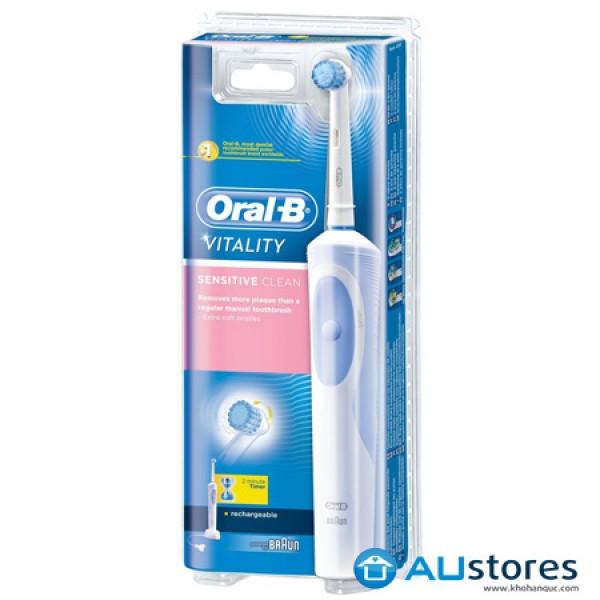 Bàn Chải Đánh Răng Điện Làm Sạch Mảng Bám Oral-B Vitality Sensitive Clean dành cho răng nướu  nhạy cảm