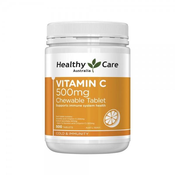 Viên uống bổ sung Vitamin C Healthy care 500mg 300 viên