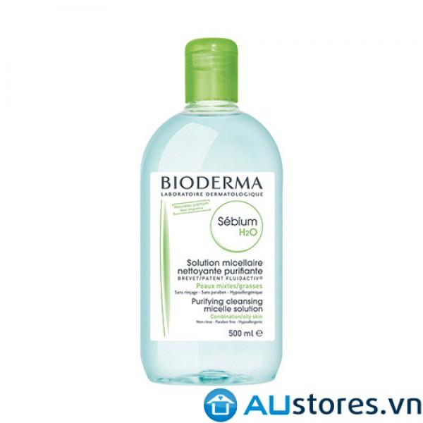 Nước tẩy trang dành cho da dầu mụn, da hỗn hợp Bioderma Sébium H20 500ml