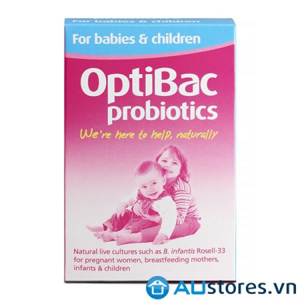 Men vi sinh Optibac Probiotics hồng 30 gói - Dành cho trẻ từ sơ sinh đến 12 tuổi, phụ nữ mang thai và cho con bú