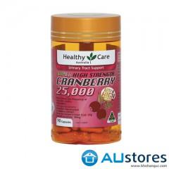 Healthy Care Super High strength Cranberry 25000 trị viêm nhiễm đường tiết niệu