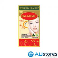 Viên uống bổ sung Vitamin C tự nhiên Wealthy Health Bio Maxi C 1000mg