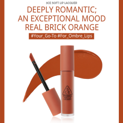 3CE SOFT LIP LACQUER TAWNY RED Cam Cháy