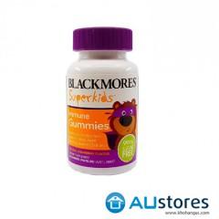 Kẹo dẻo vị dâu Blackmores Superkids Immune Gummies 60 viên - Bổ sung vitamin C, D và Kẽm cho trẻ từ 2 tuổi