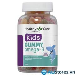 KẸO DẺO GUMMY OMEGA3 - HEALTHY CARE 250v dành cho trẻ từ 2 tuổi trở lên