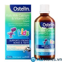 Ostelin Kids Calcium & Vitamin D3 Liquid 90ml dạng nước cho bé từ 7 tháng