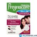 Vitabiotics Pregnacare him & her conception 60 viên - tăng khả năng thị thai cho nam và nữ