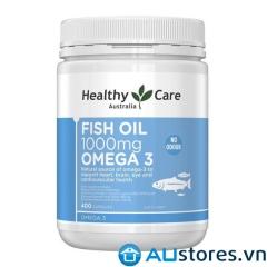 Dầu cá Healthy care fish oil omega3 1000mg hộp 400 viên của Úc
