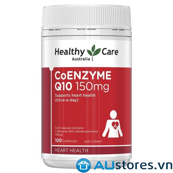 Viên uống bổ tim Healthy Care Coenzyme Q10 150mg Úc 100 viên