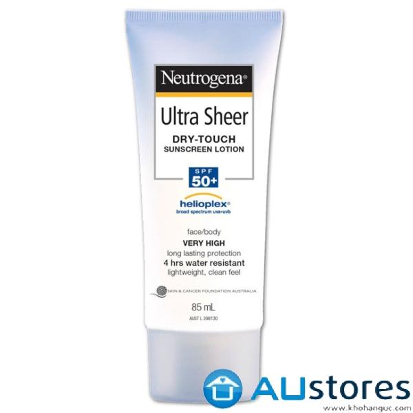 Kem Chống Nắng Neutrogena Ultra Sheer Dry-Touch Sunscreen Lotion SPF 50+ 85ml (Mặt & Cơ Thể)