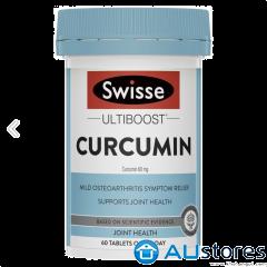 Tinh bột nghệ Swisse ultiboost Curcumin Turmeric 60 viên giảm trào ngược dạ dày và viêm xương khớp