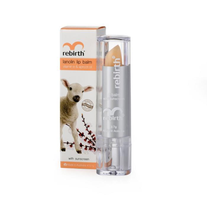 Son dưỡng môi nhau thai cừu Rebirth lanolin lip bal